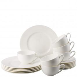 Rosenthal Jade sada s kombi hrnkem, porcelánový servis na kávu i čaj, 18 ks