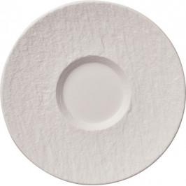 Villeroy & Boch Manufacture Rock Blanc podšálek k šálku na bílou kávu, Ø 17 cm