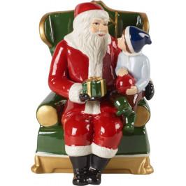 Villeroy & Boch Christmas Toys Santa v křesle s hracím mechanismem, 15 x 10 cm