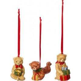 Villeroy & Boch Nostalgic Ornaments vánoční závěsná dekorace Medvídci, 3 ks