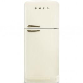 Smeg lednice s mrazákem 50´s Retro Style FAB50, madlo bronz, krémová, FAB50RCRB