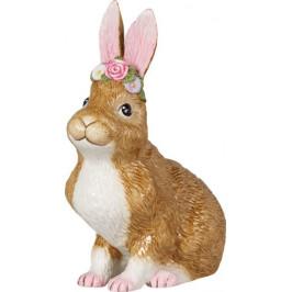 Villeroy & Boch Easter Bunnies sedící zajíc s věnečkem, 22 cm