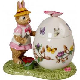 Villeroy & Boch Bunny Tales porcelánová dóza ve tvaru kraslice se zaječicí Annou