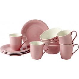 Villeroy & Boch Like Color Loop Rose porcelánová snídaňová sada, 12 ks