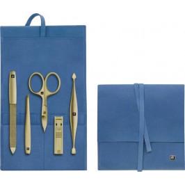 Zwilling Twinox Gold Edition dámská manikúra, modrá kůže, 5 ks