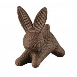 Dekorace zajíček Rosenthal Rabbits, střední, hnědý, 10,5 cm
