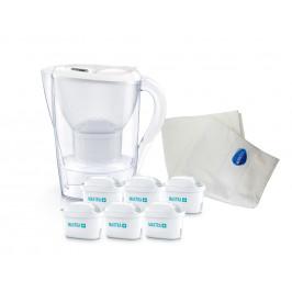 Brita výhodný set: Filtrační konvice Marella se 6 filtry + ručník