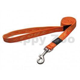 Vodítko ROGZ Alpinist HLL 25 D-Orange (L) 2x180cm (DOPRODEJ)