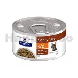 Konzerva HILLS Feline Stew K/D with Chicken & Vegetables 82g