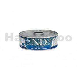 Konzerva N&D Cat Ocean Adult Small Tuna & Codfish & Shrimps 80g