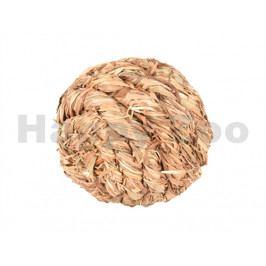 Hračka pro hlodavce FLAMINGO - míček z trávy s rolníčkou 8cm