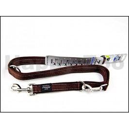 Vodítko přepínací ROGZ Utility HLM 06 J-Chocolate (L) 2x100-130-