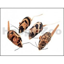 Hračka pro kočky KARLIE-FLAMINGO - plyšová hnědá myš s catnipem