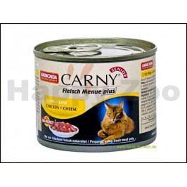 Konzerva CARNY Senior kuře a sýr 200g