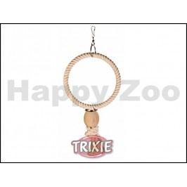 Závěsný bavlněný kruh TRIXIE s dřevěnou koulí 24cm