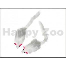 Hračka pro kočky KARLIE-FLAMINGO - plyšová chlupatá myš s catnip