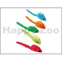 Hračka pro kočky KARLIE-FLAMINGO - plyšová barevná myš s catnipe