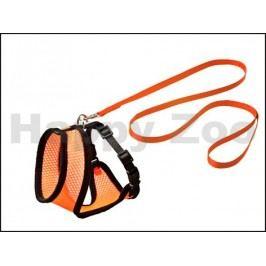 Postroj s vodítkem pro kočku KARLIE-FLAMINGO Harms (M) oranžovoč