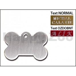 QUICK TAG gravírovací známka - broušená chromová kost (L)