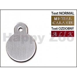QUICK TAG gravírovací známka - broušené chromové kolečko (S)