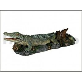 Dekorace TRIXIE - vzduchovací krokodýl na skále 26cm