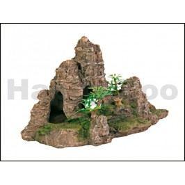 Dekorace TRIXIE - skála s jeskyní a rostlinami 22cm