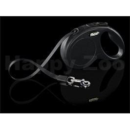 FLEXI New Classic Tape (S) - černé (do 15kg, 5m pásek)
