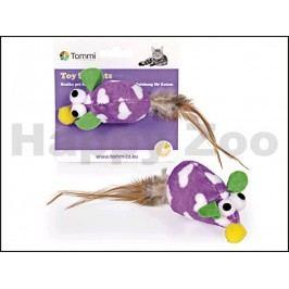 Hračka pro kočky TOMMI - fialová myš 8cm