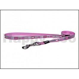 Vodítko ROGZ Pupz Reflecto HLL 241 X-Pink (S) 1,2x180cm