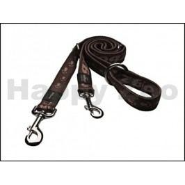 Vodítko přepínací ROGZ Alpinist HLM 23 J-Chocolate (M) 1,6x100-1