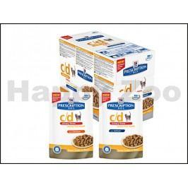 Kapsička HILLS Feline C/D Urinary Stress Reduced Calorie 12x85g