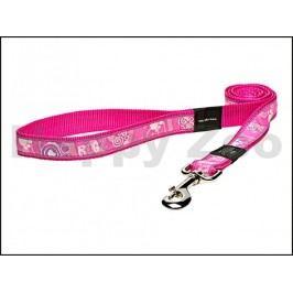 Vodítko ROGZ Fancy Dress HL 02 CA-Pink Paws (XL) 2,5x120cm