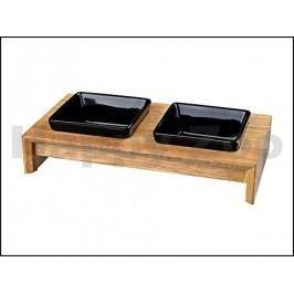 Keramické dvojmisky TRIXIE v dřevěném stojánku 2x400ml (13cm)