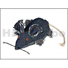 Hračka TRIXIE pro kočky - modrá džínová myš 10cm