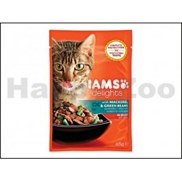 Kapsička IAMS Cat Delights Mackerel & Green Beans in Jelly 85g