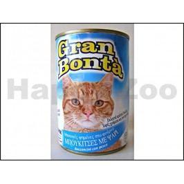 Konzerva GRAN BONTA pro kočky s rybím masem 400g
