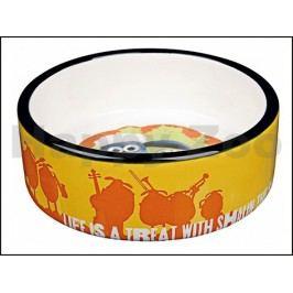 Keramická miska TRIXIE Ovečka Shaun oranžová 0,3l (12cm)