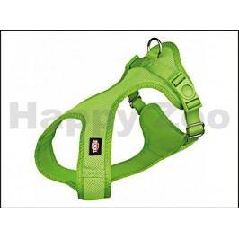 Postroj TRIXIE Soft vypolstrovaný zelený (XXS-XS) 1,5x28-40cm