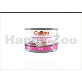 Konzerva CALIBRA Cat Kitten Chicken with Chicken Hearts and Salm