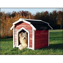 Bouda pro psa TRIXIE Natura Country červenobílá (S-M) 71x69x75cm