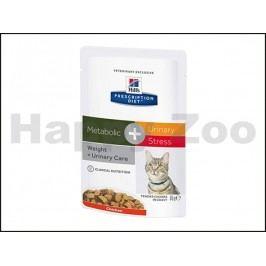 Kapsička HILLS Feline Metabolic + Urinary Stress 12x85g