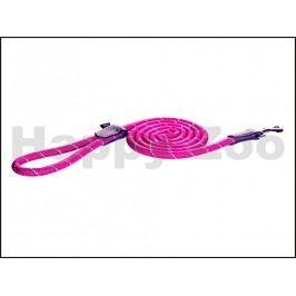 Vodítko ROGZ Rope HLLR 12 K-Pink (L) 1,2x180cm