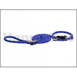 Vodítko se stahovacím obojkem 2v1 ROGZ Rope HLXR 09 B-Blue (M) 0
