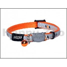 Obojek ROGZ Catz NightCat CB 208 D-Orange Birds on Wire (XS) 0,8