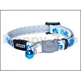 Obojek ROGZ Catz GlowCat CB 209 B-Blue Floral (XS) 0,8x16,5-23cm