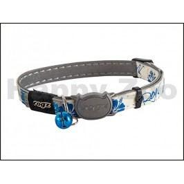 Obojek ROGZ Catz GlowCat CB 09 B-Blue Floral (S) 1,1x20-31cm