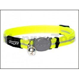 Obojek ROGZ Catz AlleyCat CB 16 H-Dayglo Yellow (S) 1,1x20-31cm