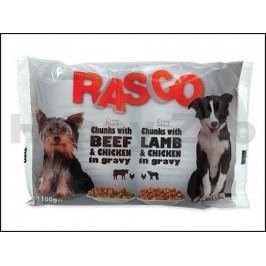 Multipack kapsička RASCO s kuřecím a hovězím, s jehněčím a kuřec