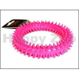 Hračka SALAČ guma - TPR kroužek růžový 11,5cm