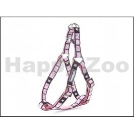 Postroj ZOLUX Envy VIP růžový (S) 1,5x35-60cm